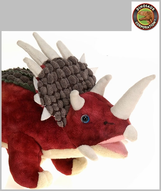 Triceratops Plush Toy Soft Touch Dinosaur