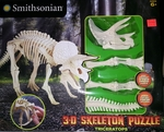 Smithsonian Dino Dig 3D Triceratops Skeleton Puzzle Kit 15""