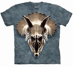 Triceratops Dinosaur Skull T-shirt Adult Sizes
