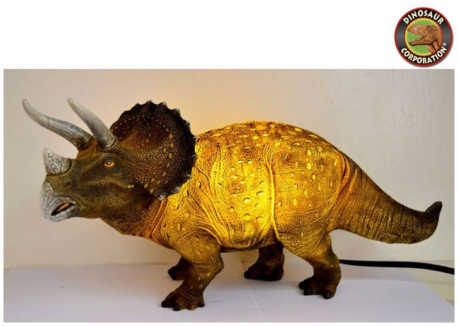 Triceratops Table Lamp Night Light. Triceratops dinosaur ... - Jurassic World Triceratops Lamp Prehistoric Dinosaur Light Decoration