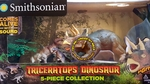 Smithsonian Jurassic world Realistic Triceratops with Sound Play Set