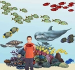 Tropical Coral Reef Sea Life Wall Stickers Collection