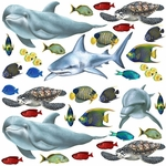 Tropical Sea Creatures Wall Stickers Panel Collection