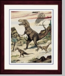 "Tyrannosaurus rex Framed Picture, 17"" x 14"""