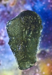 Unique Moldavite Gemstone from Slavce, Czech Moldavite, 92.5 Carats