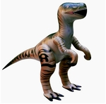"Large Inflatable Velociraptor Dinosaur Blow Up Toys 51"", 6 pcs."