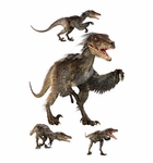Velociraptor Group Wall Stickers