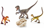 Velociraptors On the Hunt Schleich Dinosaur Scale Models
