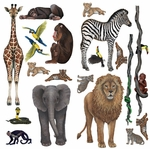Wild Animals Wall Sticker Collection Panel