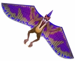 Wind-N-Sun 3D Pteranodon Flying Reptile Dinosaur Kite Toy, 64 inches