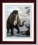 "Woolly Mammoth, Coelodonta, 17"" x 14"""