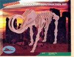 3D Woolly Mammoth Wooden Bones Skeleton Puzzle Kit, 11 inch, 6 Sets