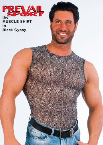 Muscle Shirt in Black Gypsy