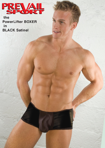 PowerLifter Boxer in Black Satinel