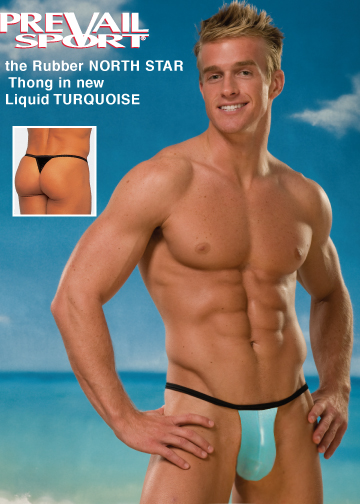 Rubber North Star Thong