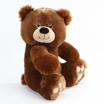 "10"" Jameson Brown Plush Bear - Side Facing"