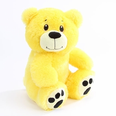 "10"" Luna Yellow Plush Bear - Side Facing"