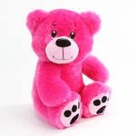 "10"" Naomi Pink Plush Bear - Side Facing"