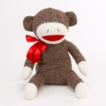 "10"" Sawyer Plush Sock Monkey"