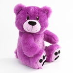 "10"" Violet Purple Plush Bear - Side Facing"