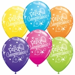 "11"" Feliz Cumpleanos Assortment Latex Balloons"