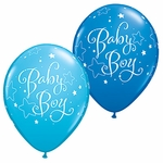 "11"" Baby Boy Stars Latex Balloons"