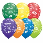 "11"" Congrats Messages Latex Balloons"