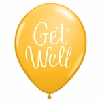 "11"" Get Well Classy Script Latex Balloons"
