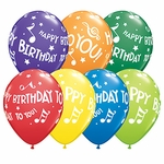 "11"" Happy Birthday To You Music Notes Latex Balloons"