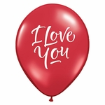 "11"" I Love You Script Modern Latex Balloons"
