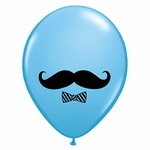 "11"" Mustache & Bow Tie Latex Balloons"