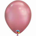 "11"" Round Chrome Mauve Latex Balloon"