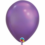 "11"" Round Chrome Purple Latex Balloons"