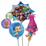 "14"" Character Air-Filled Shape Balloons"