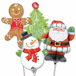 "14"" Christmas Air-Filled Shape Balloons"