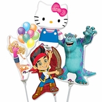 "14"" Kid Favorites Air-Filled Shape Balloons"