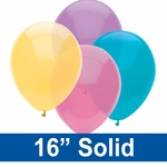 "16"" Solid Latex Balloons"