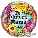 "18"" Te Quiero Mama Flowers Balloon"