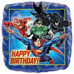 "17"" Standard Justice League Happy Birthday Helium Saver Balloon"