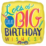 "17"" Big Birthday Wishes Helium Savers Balloon"