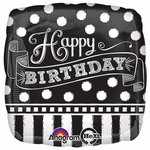 "17"" Black & White Chalkboard Helium Savers Balloon"
