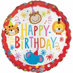 "17"" Circus Theme Happy Birthday Helium Saver Balloon"