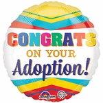 "17"" Congratulations on your Adoption Helium Saver Balloon"