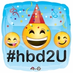 "17""  Emoji HBD Helium Savers Balloon"