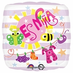 "17"" Es Nina Baby Clothes Helium Savers Balloon"