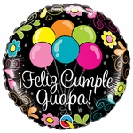 "17"" Feliz Cumple Guapa Helium Saver Balloon"