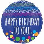 "17"" Happy Birthday To You Helium Saver Balloon"