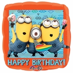 "17"" Despicable Me Happy Birthday Helium Savers Balloon"