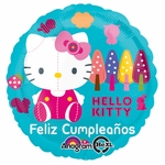 "17"" Hello Kitty Feliz Cumpleanos Helium Savers Balloon"