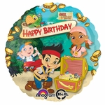 "17"" Disney Jake & the Neverland Pirates Happy Birthday Helium Savers Balloon"